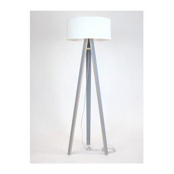 Lampadar cu abajur alb și cablu transparent Ragaba Wanda, gri de la Ragaba