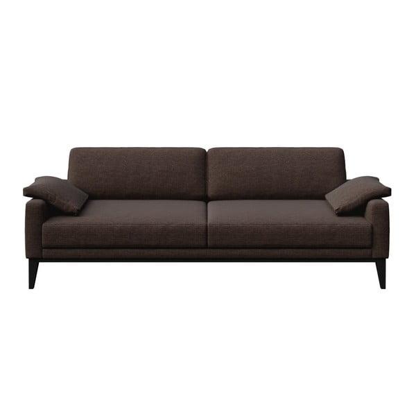 Canapea cu 3 locuri MESONICA Musso, maro