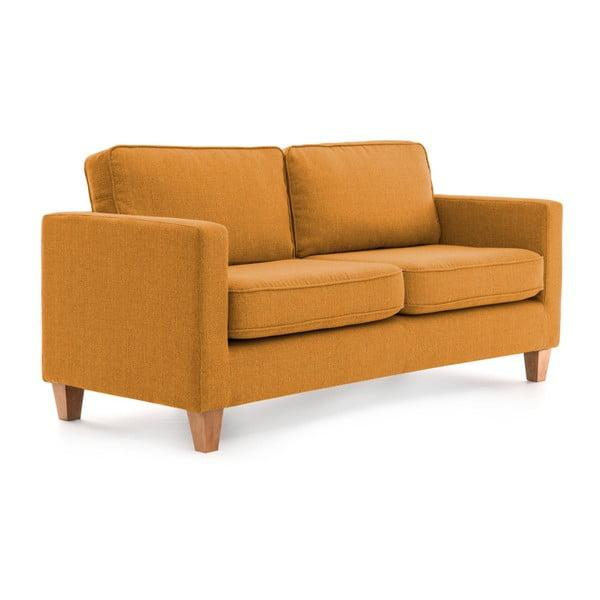 Musztardowa sofa 3-osobowa Vivonita Sorio