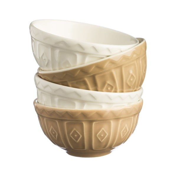 Set 4 boluri ceramică Mason Cash Cane, 200 ml
