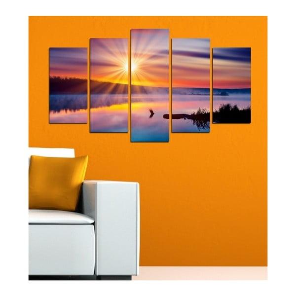 Obraz wieloczęściowy 3D Art Mardo Sunset, 102x60 cm