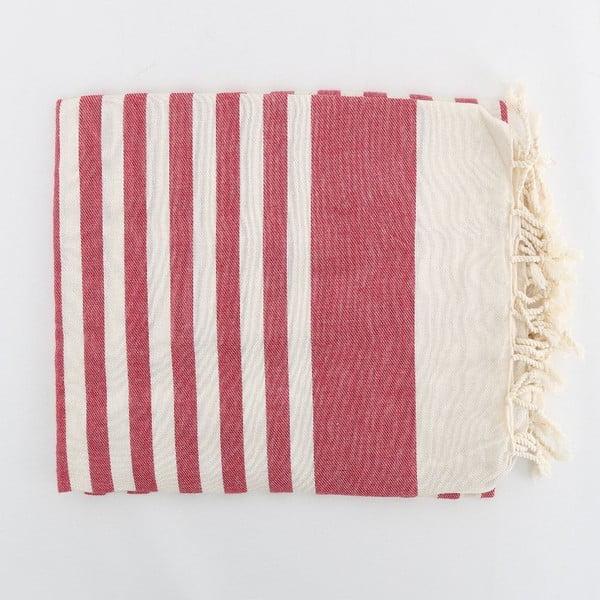 Hammam osuška Fouta Claret Red, 100x180 cm