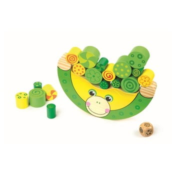Jucărie din lemn Legler Balancing Frog de la Legler