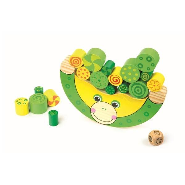 Dřevěná hračka Legler Balancing Frog