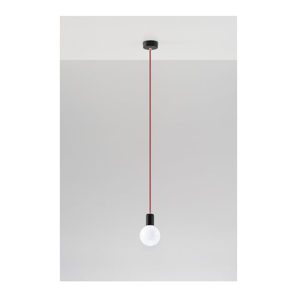 Lustră Nice Lamps Bombilla Black/Red