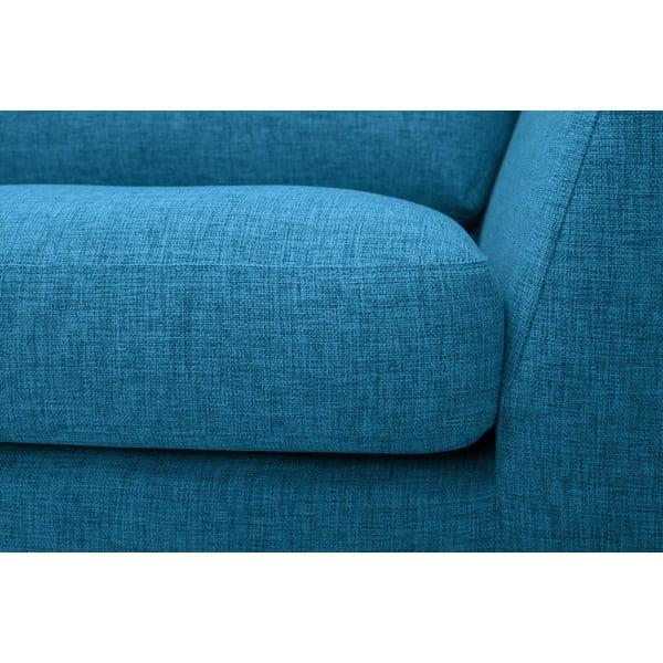Pohovka Monroe s lenoškou na levé straně, modrá