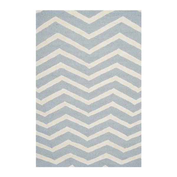 Vlněný koberec Edie Light Blue, 152x243 cm