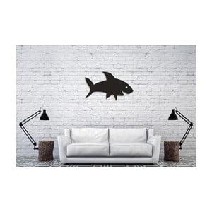 Černá nástěnná dekorace Oyo Concept Shark, 38,5x60cm