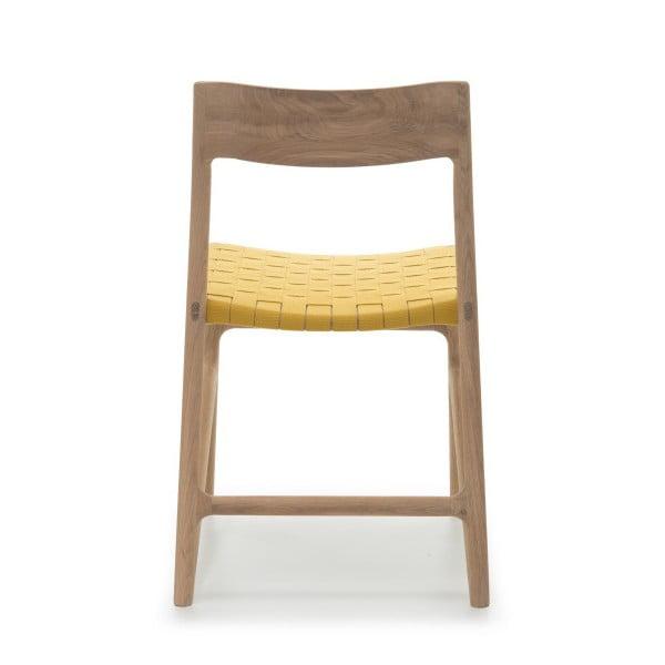 Židle Fawn White Pigment Gazzda, žlutá