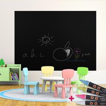 Set autocolant tablă de scris și marker Ambiance Blackboard de la Ambiance