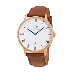 Pánské hodinky s hnědým páskem Daniel Wellington Durham Gold, ⌀38mm