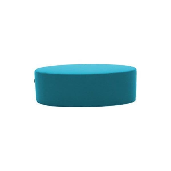 Tyrkysový puf Softline Bon-Bon Felt Melange Turquoise, délka 120 cm