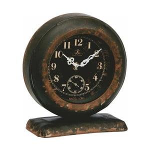 Kovové hodiny, rustical, 18x16x8 cm