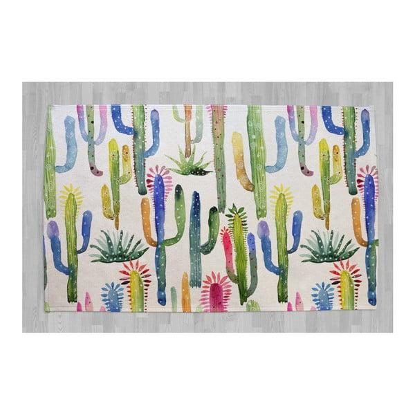 Covor din bumbac pur Surdic Cactus, 140 x 90 cm