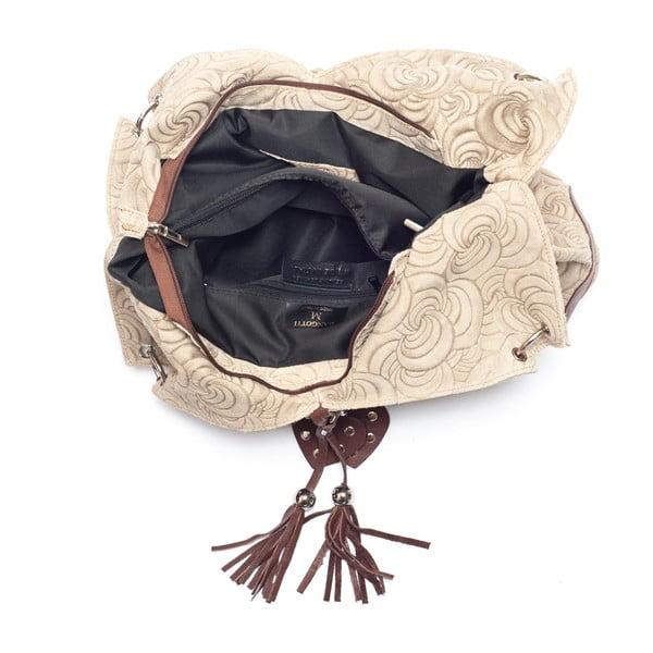 Kožená kabelka Mangotti 8002, kámen