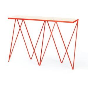 Červený konzolový stolek &New Giraffe