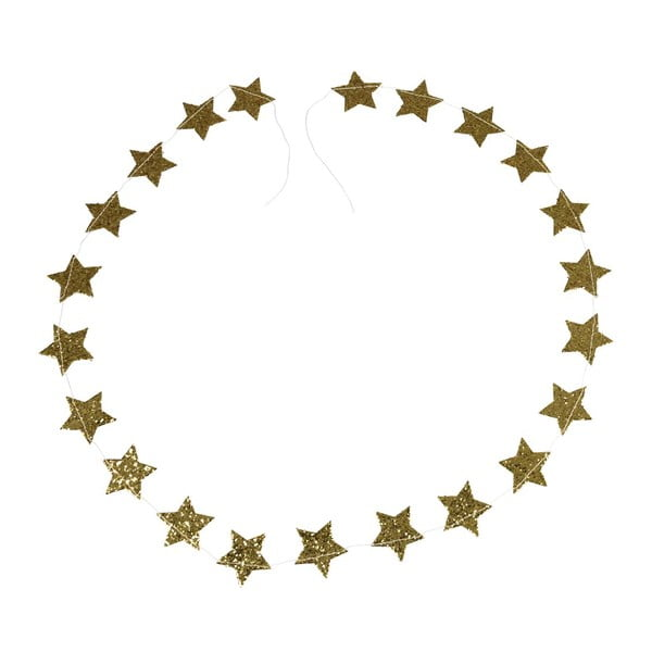 Ghirlandă de Crăciun Rex London Gold Stars