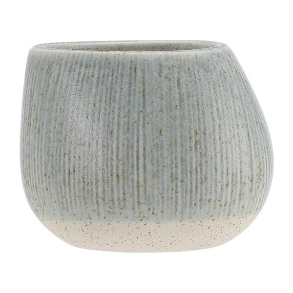 Šedozelený kameninový květináč A Simple Mess Skum, ⌀14cm