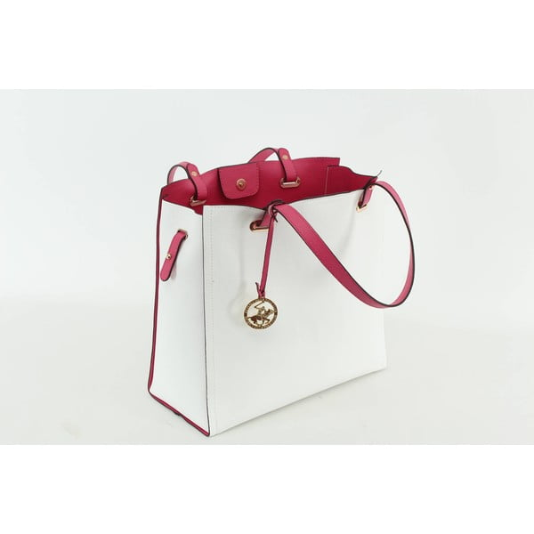 Kabelka Beverly Hills Polo Club 441 - White/Fuchsia