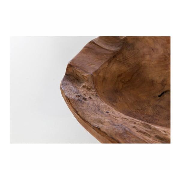 Mísa z teakového dřeva WOOX LIVING Natu, ⌀30cm
