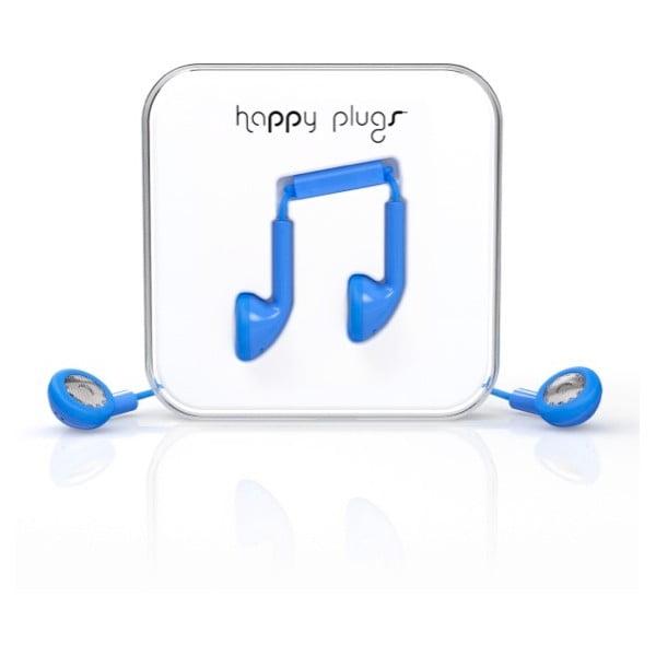Sluchátka Happy Plugs, modrá