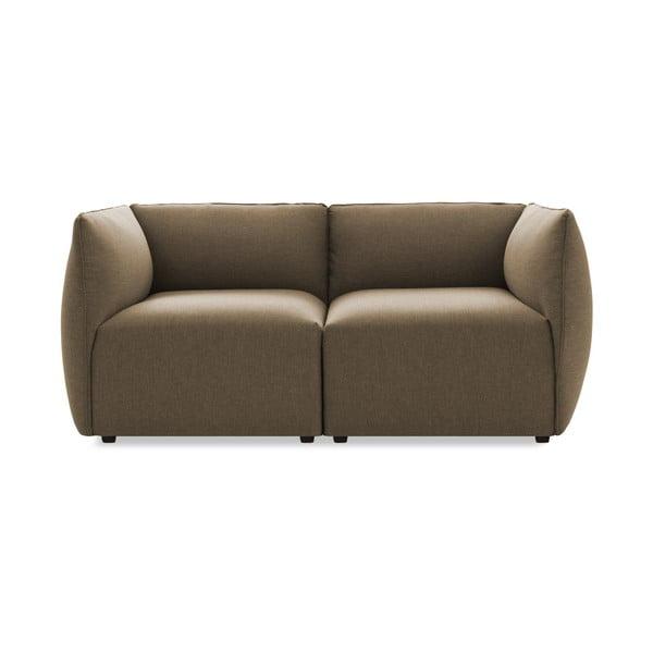 Sofa dwuosobowa VIVONITA Cube Sawana, ciemny beż
