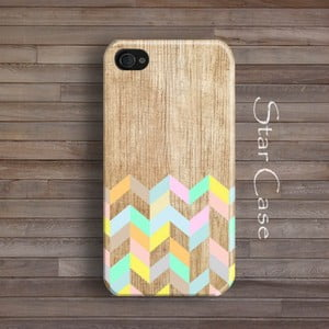 Obal na iPhone 4/4S Wood Mint Flowers