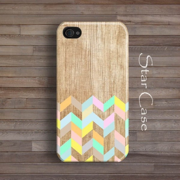 Obal na iPhone 5/5S Wood Mint Flowers
