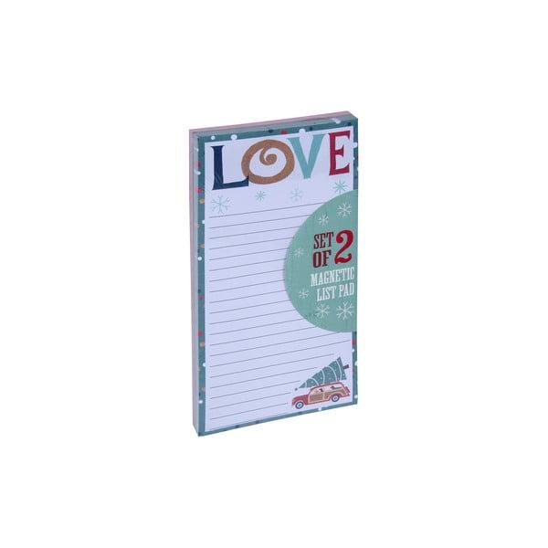 Sada 2 ks bločků Tri-Coastal Design Christmas List Love Peace
