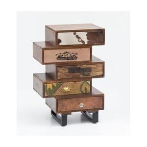Komoda s 5 zásuvkami z masivního mangového dřeva Skyport PATNA