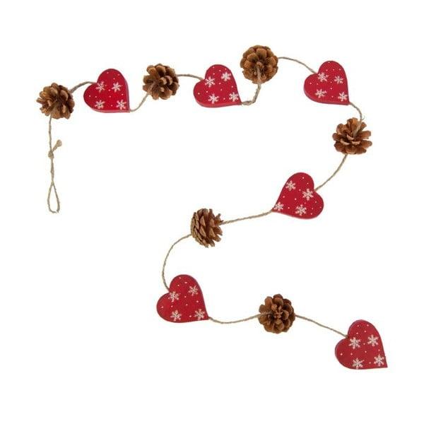 Girlanda Antic Hearts and Pinecones