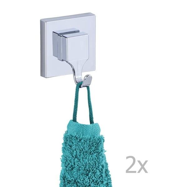Zestaw 2 haczyków z przyssawkami Wenko Vacuum-Loc, do 33 kg