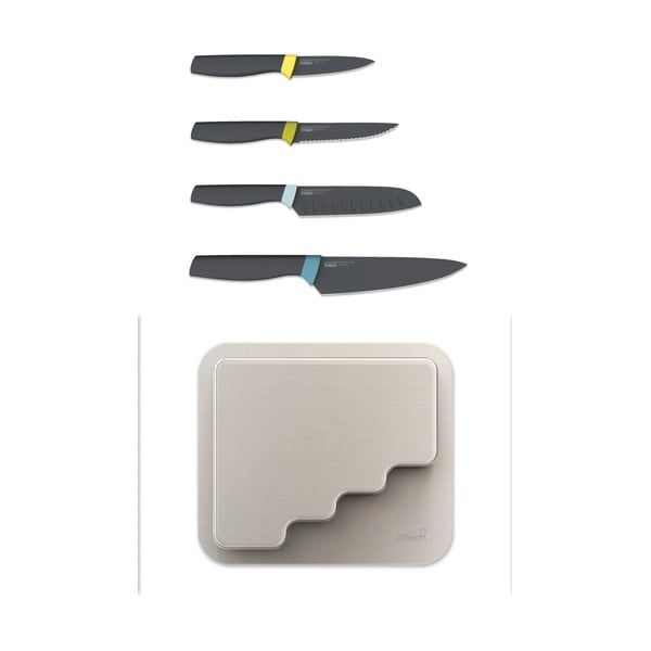 Sada nožů v samolepícím závěsném bloku Joseph Joseph DoorStore