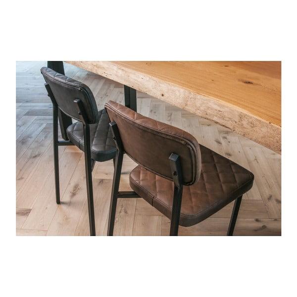 Tmavě hnědá židle Leitmotiv Retro