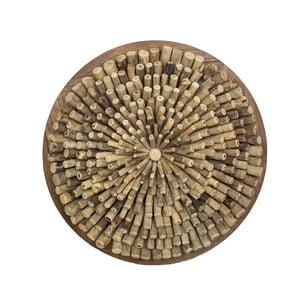 Nástěnná dekorace  z naplaveného dřeva HSM collection Wardi, ⌀74cm