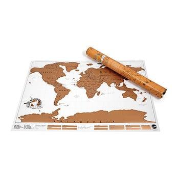 Harta lumii răzuibilă pentru perete Ambiance Scratch Map de la Ambiance