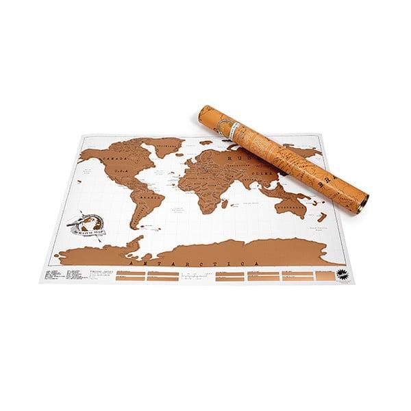 Harta lumii răzuibilă pentru perete Ambiance Scratch Map