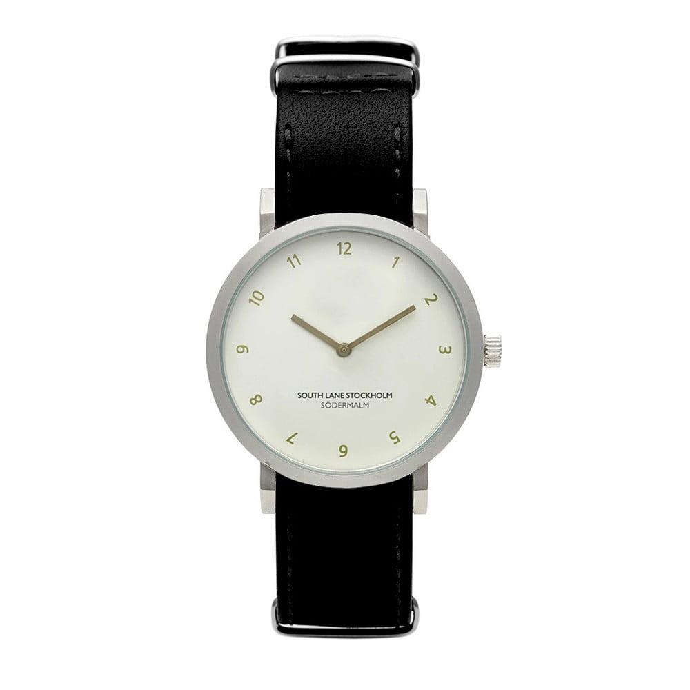 Unisex hodinky s černým řemínkem South Lane Stockholm Sodermalm Classy