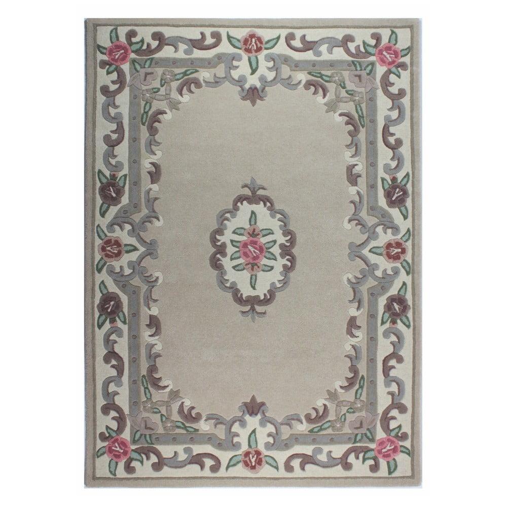 Béžový vlněný koberec Flair Rugs Aubusson, 75x 150cm