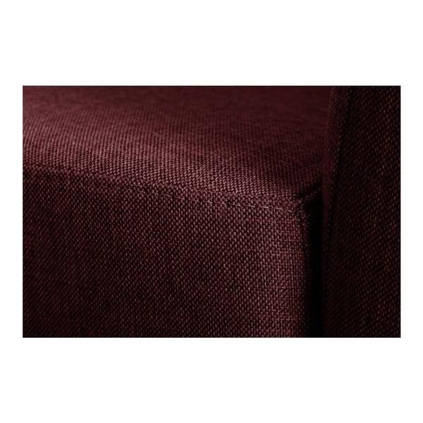 Červená pohovka pro tři Florenzzi Viotti s opěradlem na pravé straně
