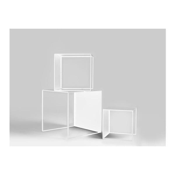 2Wall 3 részes fehér tárolóasztal szett - Custom Form