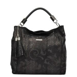 Černá kožená kabelka Carla Ferreri Lisma