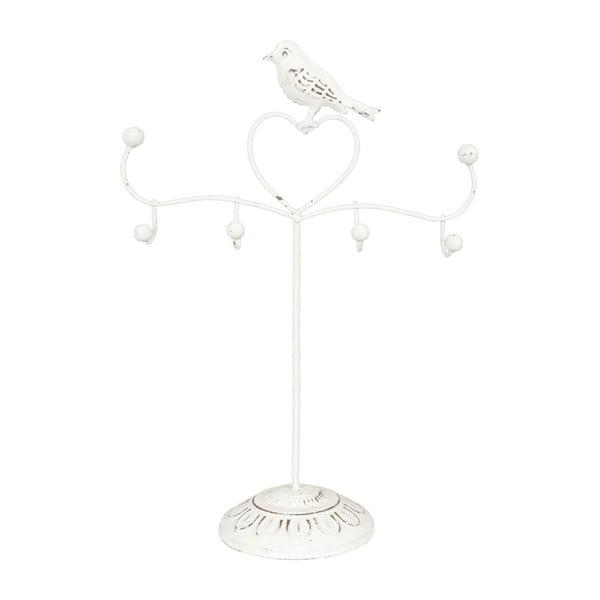 Stojan na šperky s bílými ptáčky Birdie, 30 cm