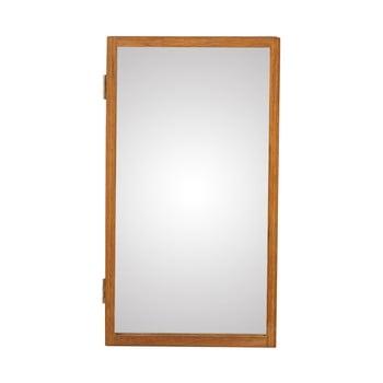 Oglindă de perete cu o cutie din lemn masiv de stejar pentru chei Canett Uno, 25x45cm imagine