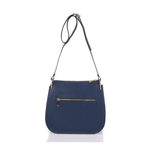 Kožená kabelka Belinda, modro-bílá