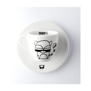 Hrneček na espresso s podšálkem FOR.REST Racoon, 100 ml