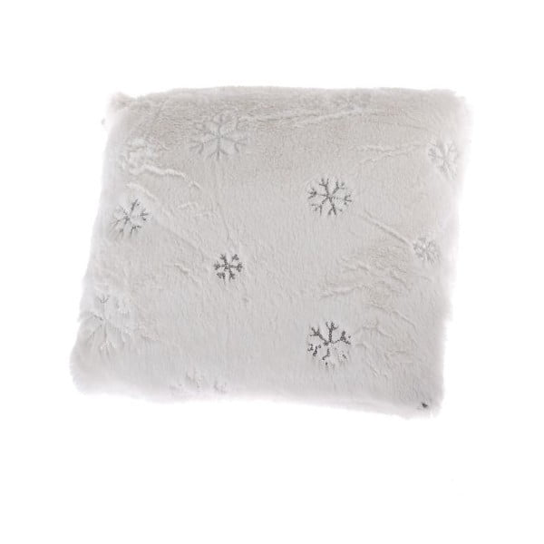 Biała poduszka ze świątecznym motywem Dakls Abbie, 40x40 cm