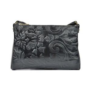 Černá kožená kabelka Carla Ferreri Agnella