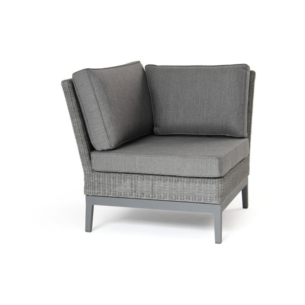 Rohový díl šedé sedačky Brafab Somerset