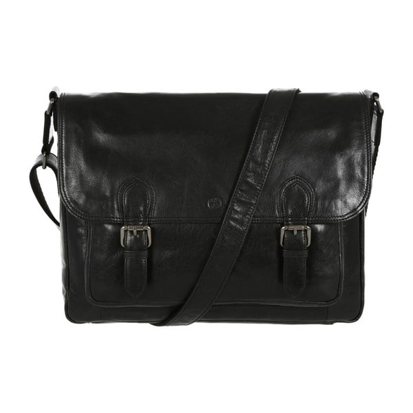 Pánská kožená taška Baker Black